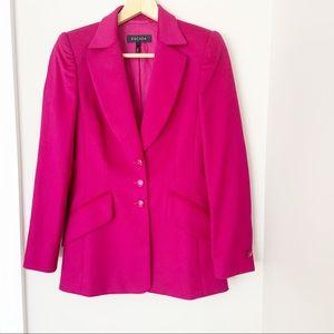 ESCADA pink luxury wool rabbit fur blazer sz. 4